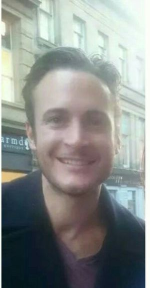 Gary Lucy - Gary Lucy outside Theatre Royal, Newcastle, October 2014