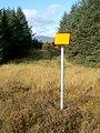 Gas pipeline marker in woodland - geograph.org.uk - 1079545.jpg