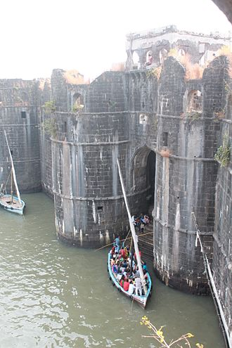 Murud-Janjira - Entry Gate into Murud Janjira Fort. Accessible by ferry.
