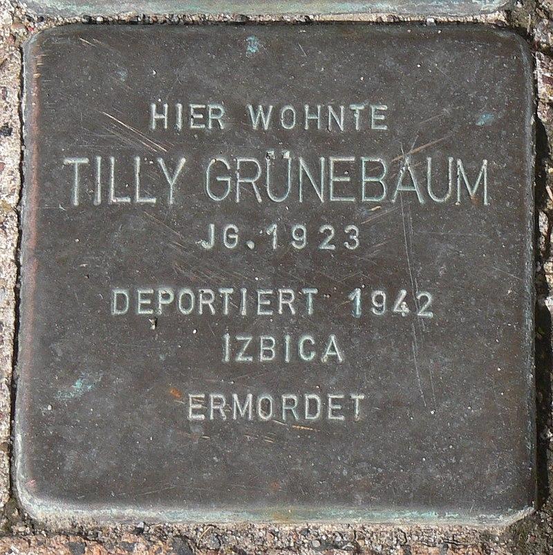 Gaukönigshofen Stolperstein Grünebaum, Tilly.jpg