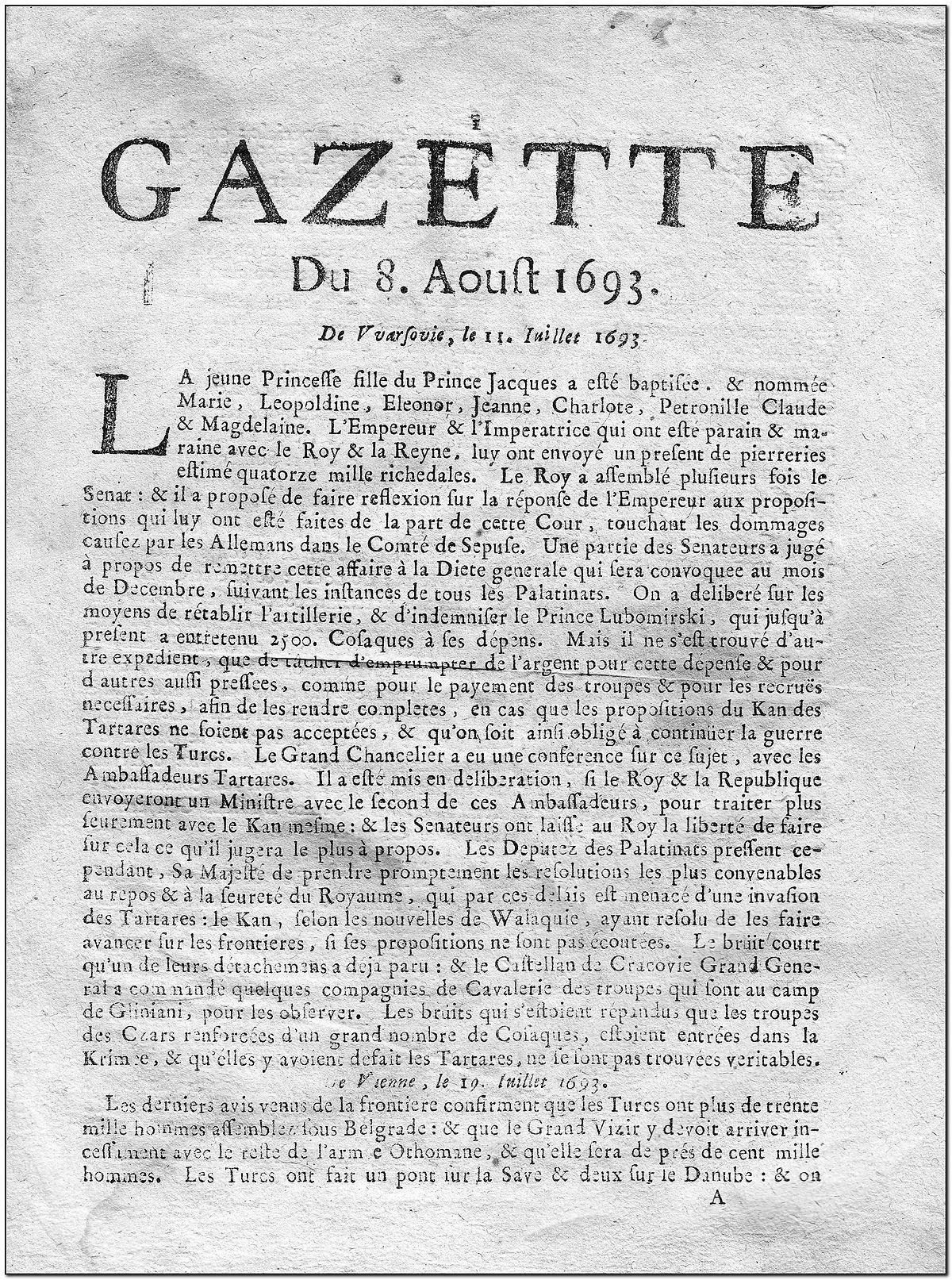 File:Gazette 1693.jpg - Wikimedia Commons