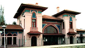 Gazi railway station - The station building in January 2001.