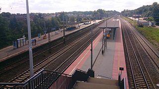 railway station in Gdynia, Poland