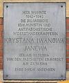 Gedenktafel Albrechtstr 14 (Mitte) Krystana Iwanowa Janewa.jpg