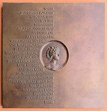 Gedenktafel am Haus Jägerstraße 54–55, in Berlin-Mitte (Quelle: Wikimedia)
