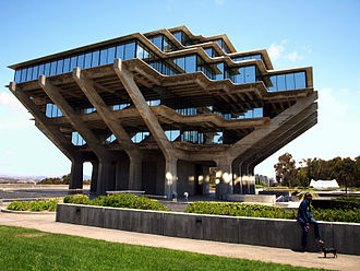"Geisel Library - UCSD's distinctive Geisel Library, named for Theodor Seuss Geisel (""Dr. Seuss"") and featured in UCSD's logo"