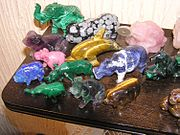 Gem animals. Click the picture to see a list of the minerals