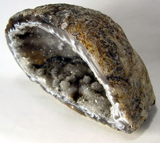 Geology of Iowa - Geode half