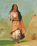 George Catlin - Ah'-kay-ee-pix-en, Woman Who Strikes Many - 1985.66.155 - Smithsonian American Art Museum.jpg