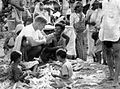George Hansen in village market. India. 1967 (17011975905).jpg