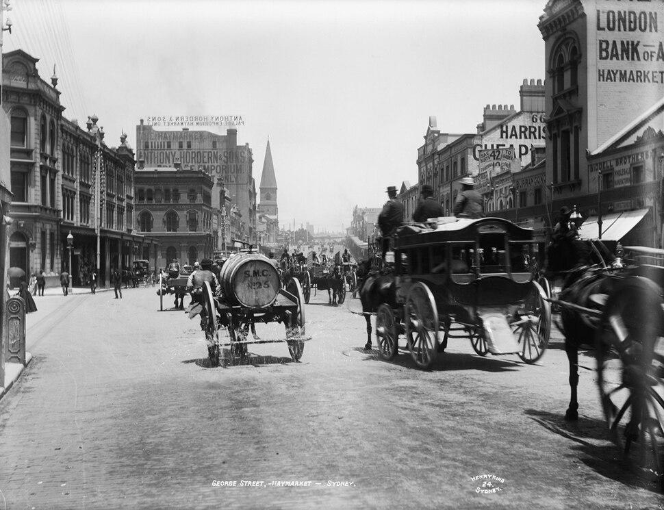 George Street, Haymarket, Sydney, c 1900