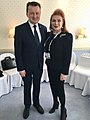 Georgette Mosbacher and Mariusz Błaszczak at MSC2019.jpg