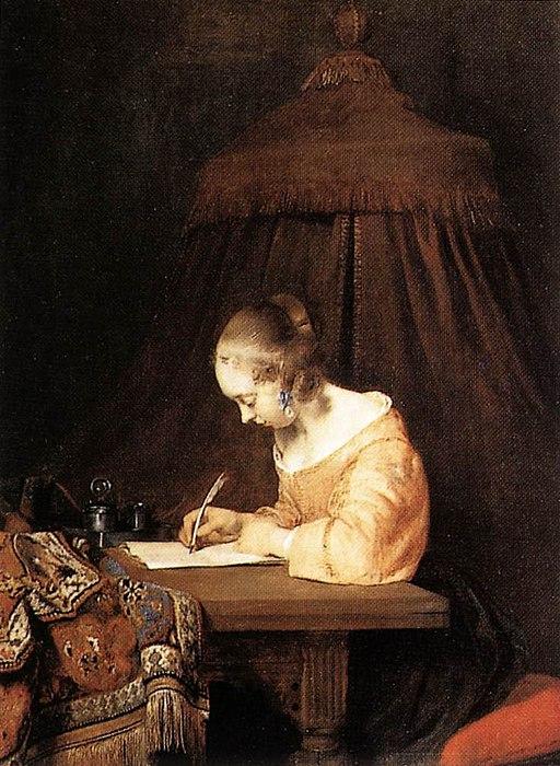 Gerard ter Borch - Die Briefschreiberin (Schwester Gesine)