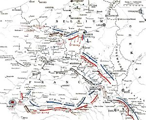 Race to the Sea - Image: German and Allied positions, 23 August 5 September 1914