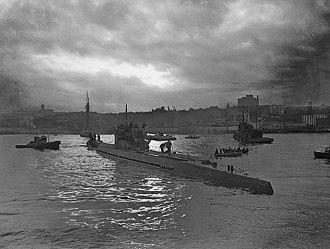 Battle of the St. Lawrence - Image: German submarine U 190