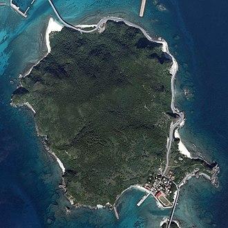 Geruma Island - Aerial view of Geruma Island