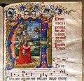 Gherardo (e forse monte) di giovanni e miniatore fiorentino, graduale temporale, 1493-95, 02 visione di david.jpg