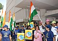"""Ghulam Nabi Azad flagging off the rally for 'Voice of Tobacco Victims' by Health Fitness Trust from Nirman Bhawan, on the occasion of the """"World No Tobacco Day"""", in New Delhi on May 31, 2012.jpg"""