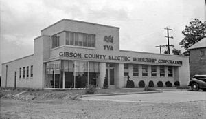 Trenton, Tennessee - The Gibson County Electric Membership Corporation which still serves Trenton, in 1940