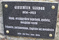 Giesswein Sándor pécsi emléktáblája.jpg