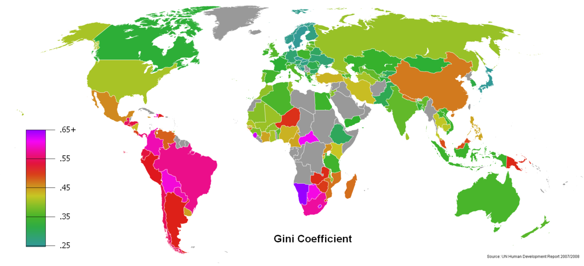 Gini Coefficient World Human Development Report 2007-2008.png