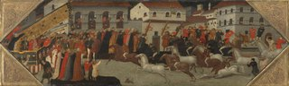 Panel from a Cassone: The Race of the Palio in the Streets of Florence