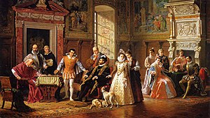 Luigi Mussini - Game of Chess between Ruy Lopez and Leonardo da Cutro at the Spanish Court