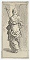 Girl carrying a crucifix and stepping toward a pilaster, seen from behind MET DP839092.jpg