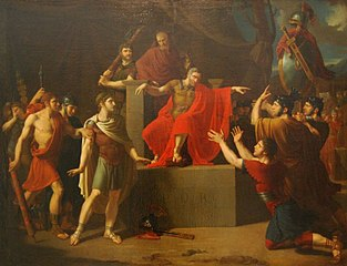 Brutus condemns his sons to death (Brutus condamne ses fils à mort), 1785