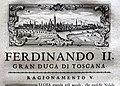 Giuseppe maria bianchini, Dei Granduchi di Toscana della real Casa De' Medici, per gio. battista recurti, venezia 1741, 15 ferdinando II, 4 pistoia.jpg