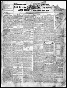 Glamorgan, Monmouth and Brecon Gazette and Merthyr Guardian Dec 1832.jpg