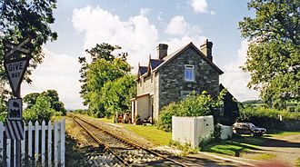 Llanelly Railway - Glanrhyd station in 1999