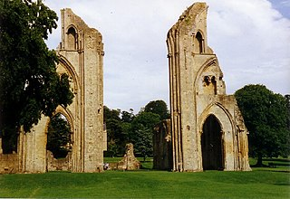 Glastonbury Abbey former Benedictine abbey at Glastonbury