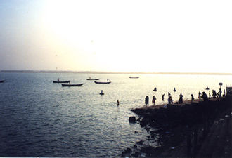 West Godavari district - River godavari at kovvur