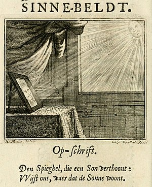 Godfried Maes - Emblem from De ongemaskerde liefde des hemels