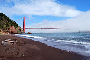 Kirby Cove Camp - Image: Golden Gate Bridge, San Francisco from Kirby Cove