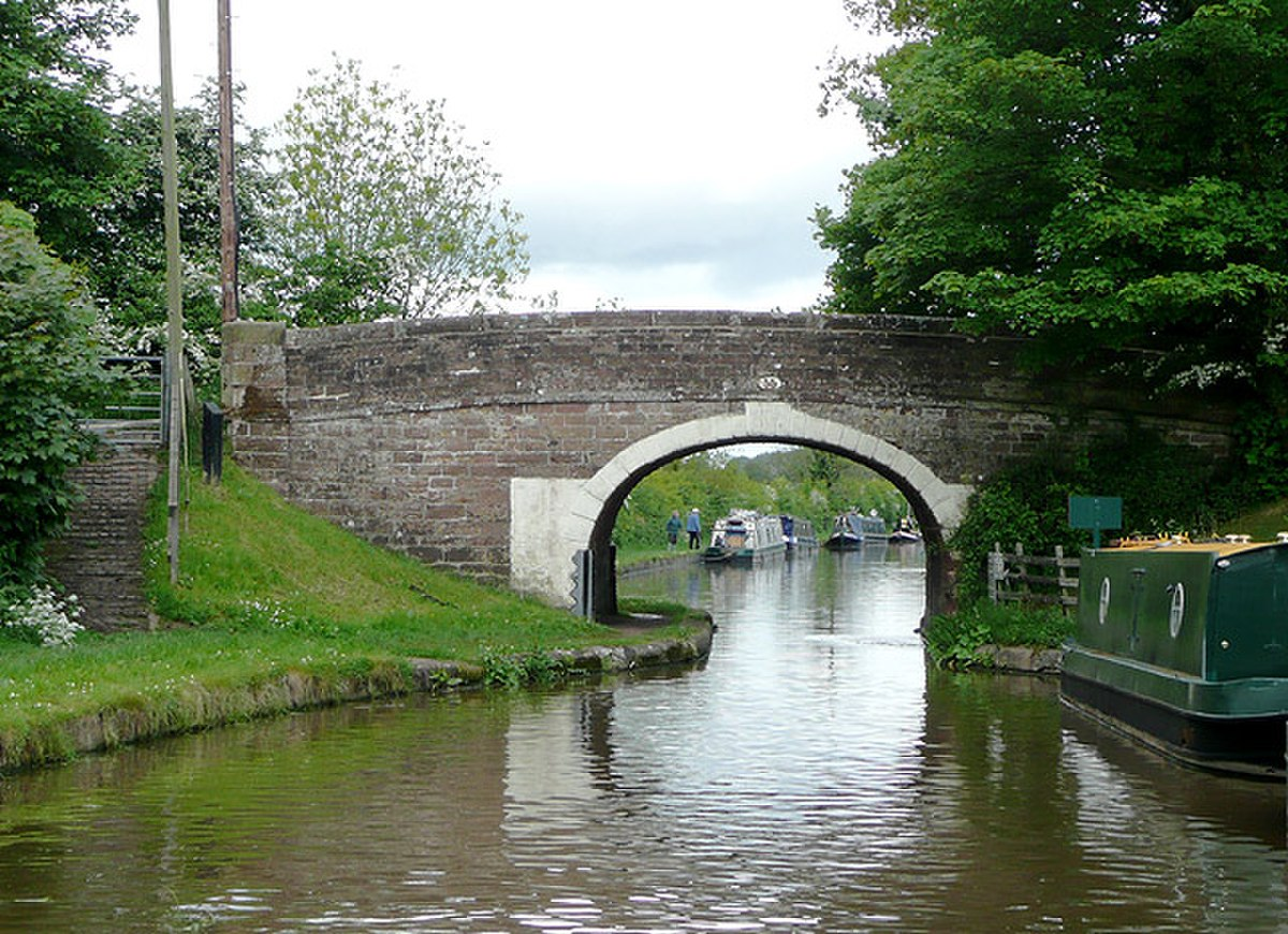 Goldstone Bridge (No 55) near Cheswardine, Shropshire - geograph.org.uk - 1589201.jpg
