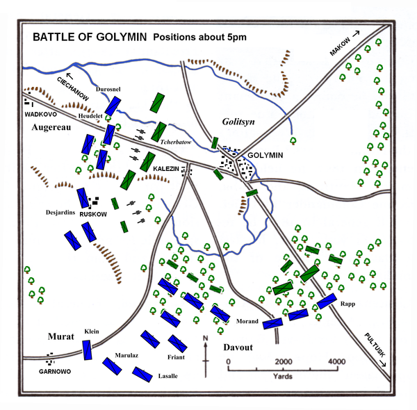 Battle of Golymin about 5pm Golymin 5pm.PNG