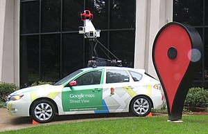 Google Street View - A Google Maps Camera Car showcased on the Google campus in Mountain View, California in October 2010