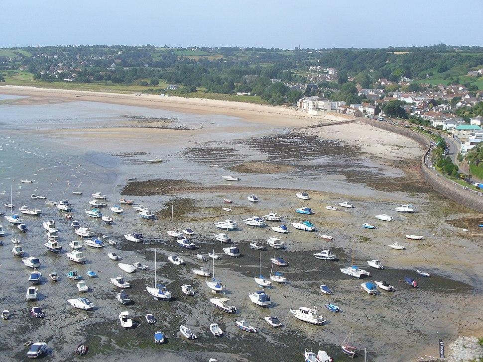 Gorey Harbour at low tide