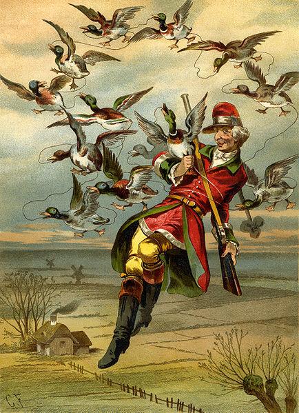 File:Gottfried Franz - Munchhausen flying with ducks.jpg