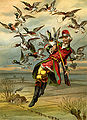 Gottfried Franz - Munchhausen flying with ducks.jpg
