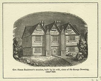 Simon Bradstreet - Bradstreet's Salem mansion