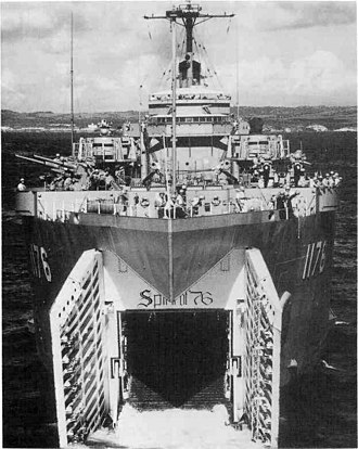 United States Navy in Vieques, Puerto Rico - USS Graham County (LST-1176) beached at Vieques, Puerto Rico, 1964