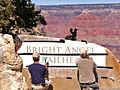 Grand Canyon National Park, Bright Angel Trailhead Sign - Stencil Application - Flickr - Grand Canyon NPS.jpg