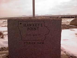 Hawkeye Point - Image: Granite Marker