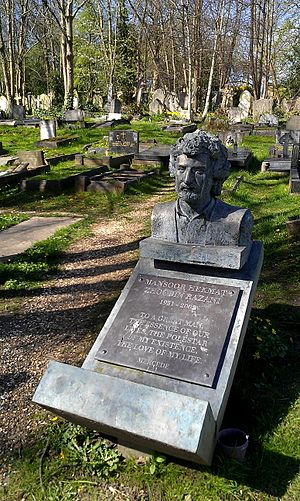 Mansoor Hekmat - Hekmat's grave in London's Highgate Cemetery.