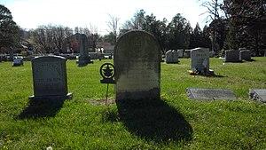 Thomas ap Catesby Jones - Grave of Thomas ap Catesby Jones in the cemetery of the Lewinsville Presbyterian Church, Lewinsville, Virginia