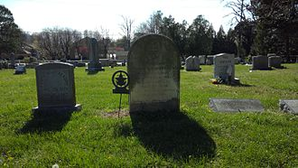 Grave of Thomas ap Catesby Jones in the cemetery of the Lewinsville Presbyterian Church, Lewinsville, Virginia Grave of Thomas ap Catesby Jones with surroundings.jpg