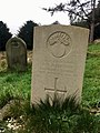 Gravestone of A. W. Harrison of the Grenadier Guards at St Mellons churchyard, December 2020.jpg
